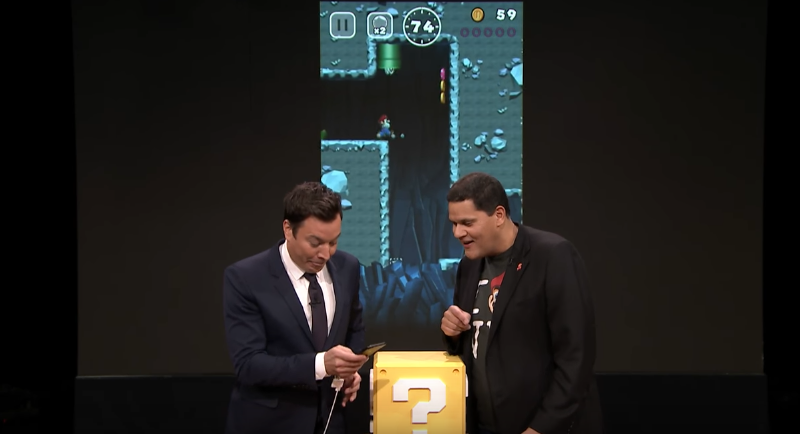 On Mario's and Nintendo's - Jimmy Fallon geeks out