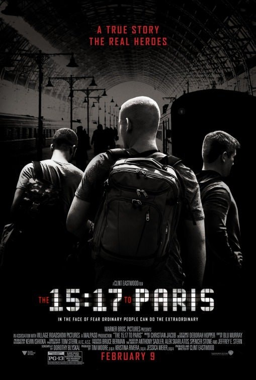 First Poster for Clint Eastwood's Drama 'The 15-17 To Paris' - BunyipPouch - http://bit.ly/2l4PiZP