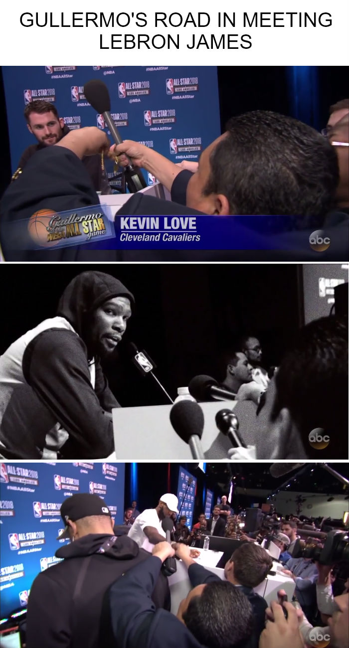 Video: LeBron finally talks to Guillermo
