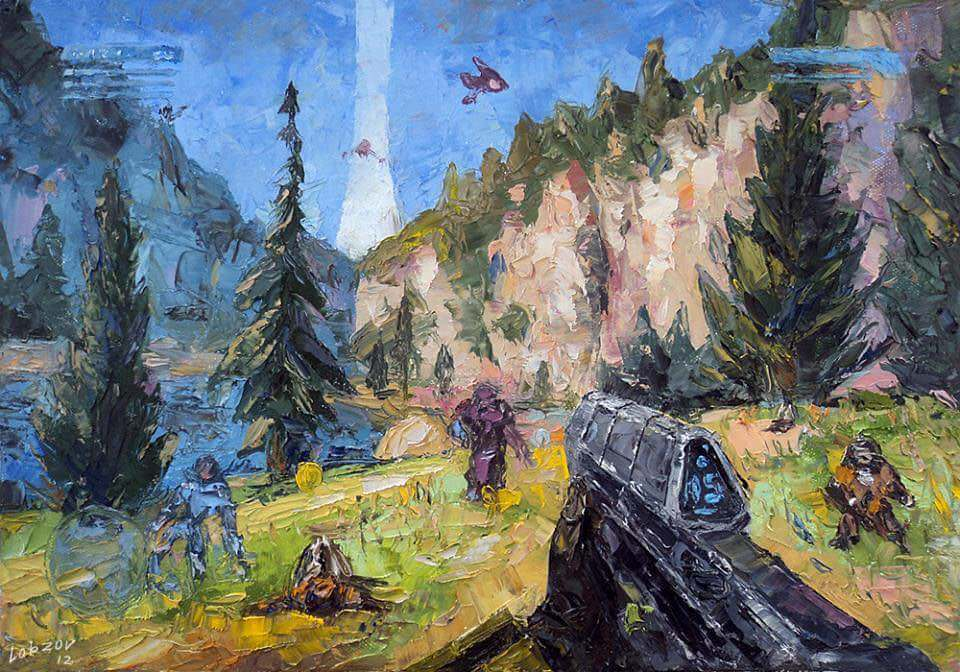 this cool Halo painting - Aurify - bit.ly2ISnfr6