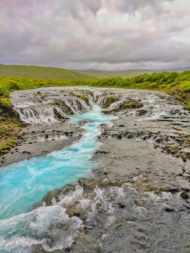 Bruarfoss, Iceland. With the hike if you can find it. - jonezy199 - bit.ly2zLywcE