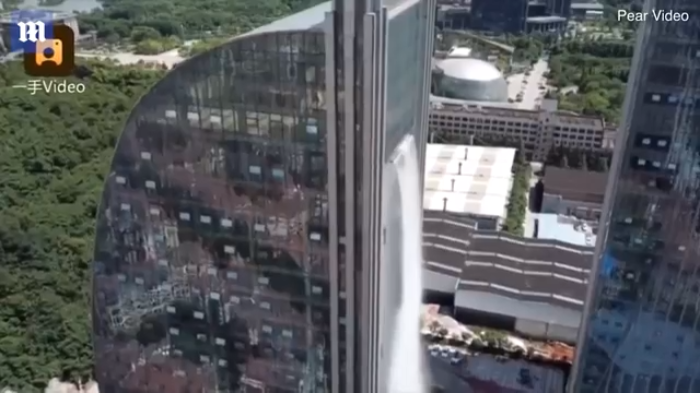 Video: Is there a waterfalls inside this tall building?