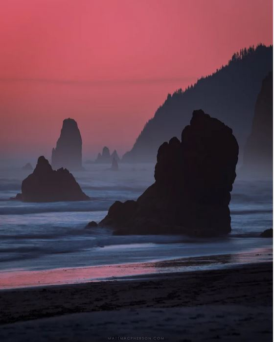 It felt like the world was on fire Sunset on Cannon Beach, Oregon