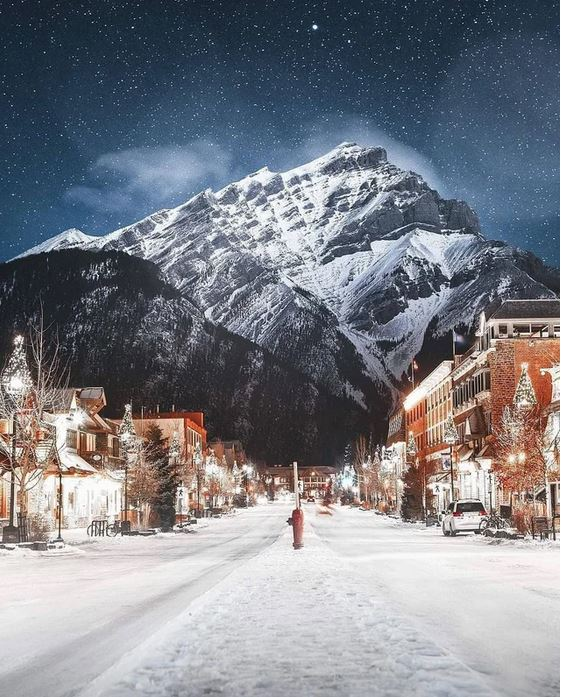 The towns and mountains of Banff, Alberta