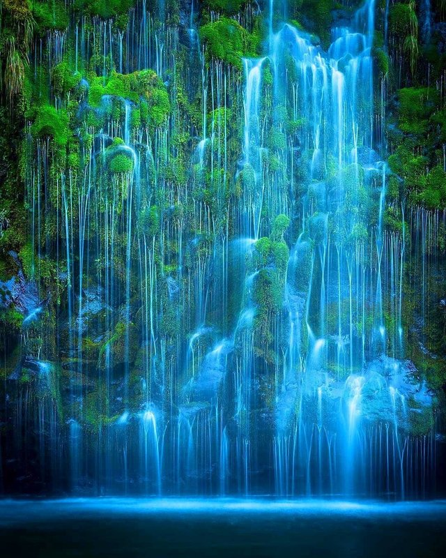 Long exposure shot of Mossbrae falls, Northern California