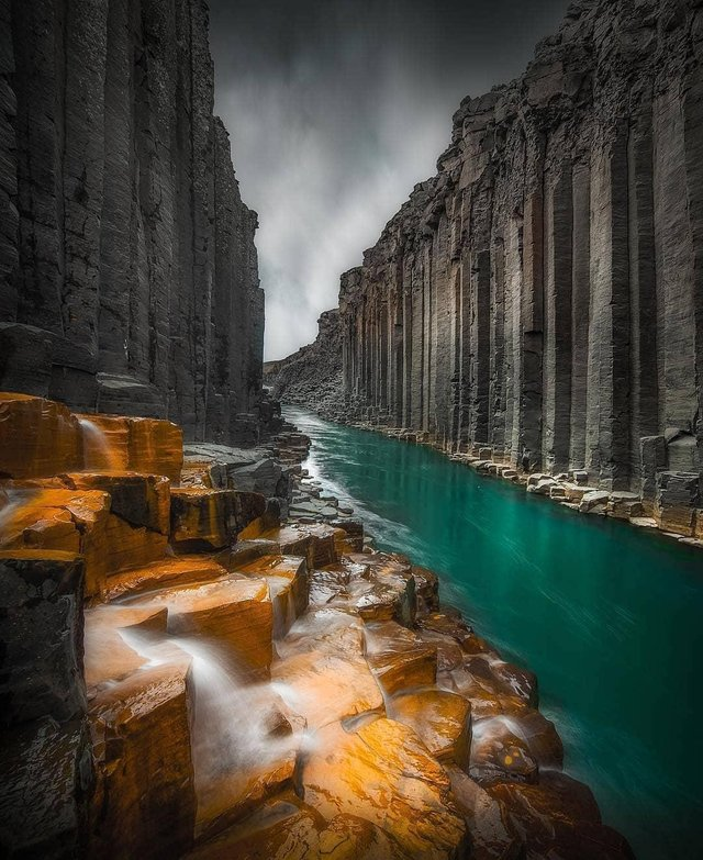 The basalt columns of Iceland