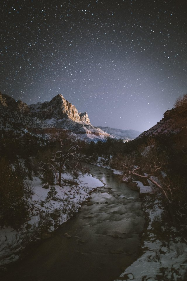 Winter Night in Utah