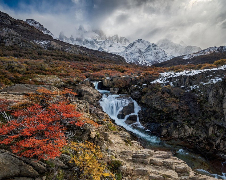 Not so secret waterfall, El Chalten, Argentina