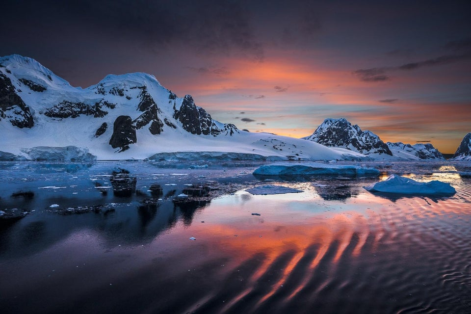Sunset in the Antarctic Peninsula