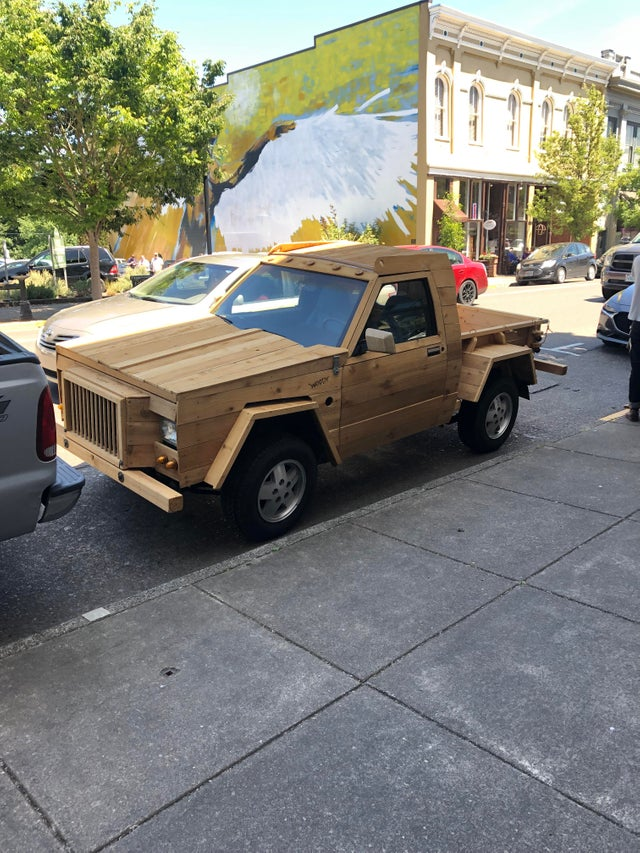 This wooden truck down the street from my apartment