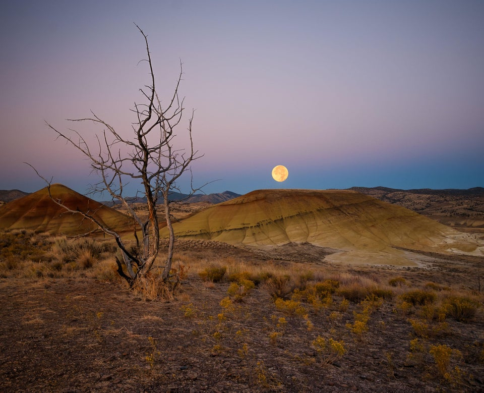 Just before sunrise in Painted Hills, Oregon