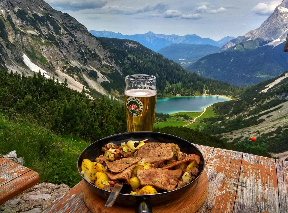 Tiroler grostl with a beer