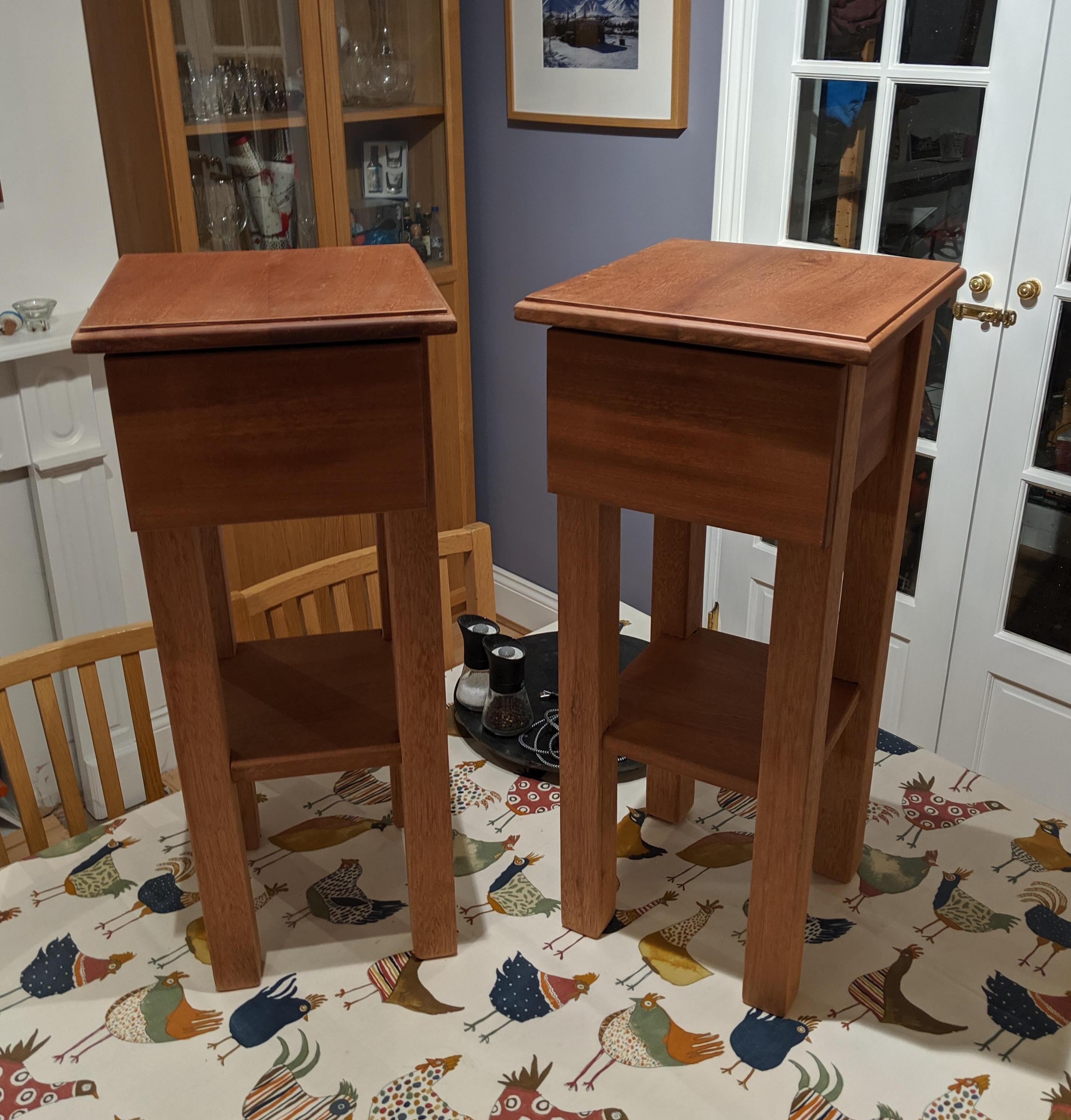Pair of wooden nightstands