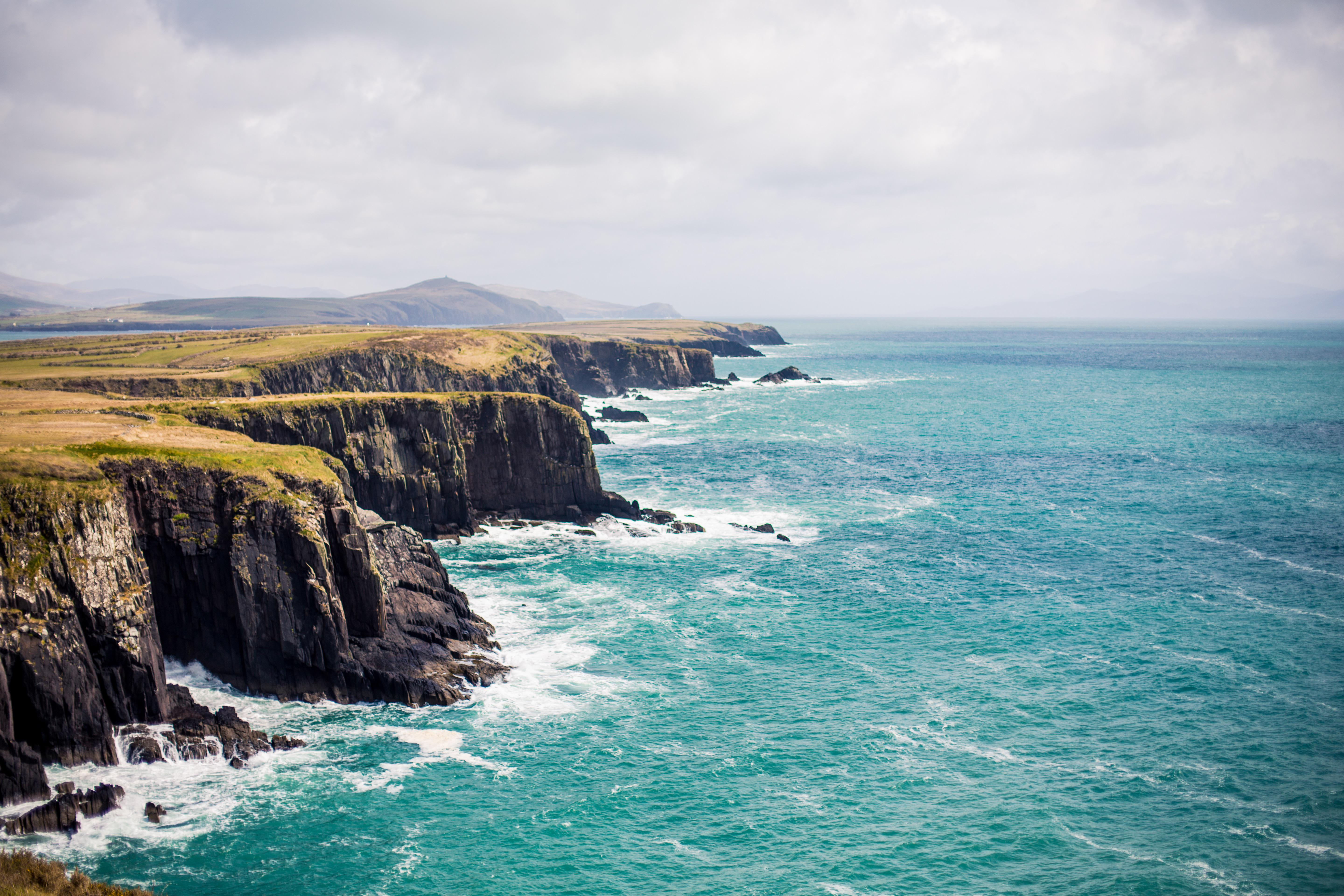 Cliffs along the coast near Dingle, Ireland