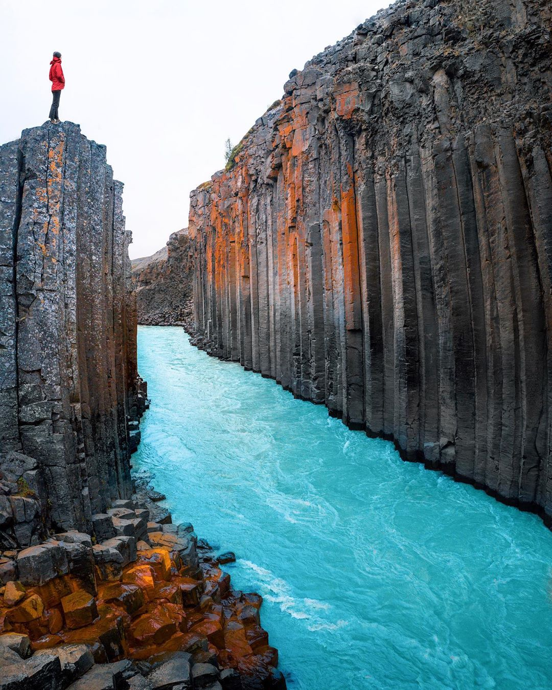 Basalt canyons of Iceland