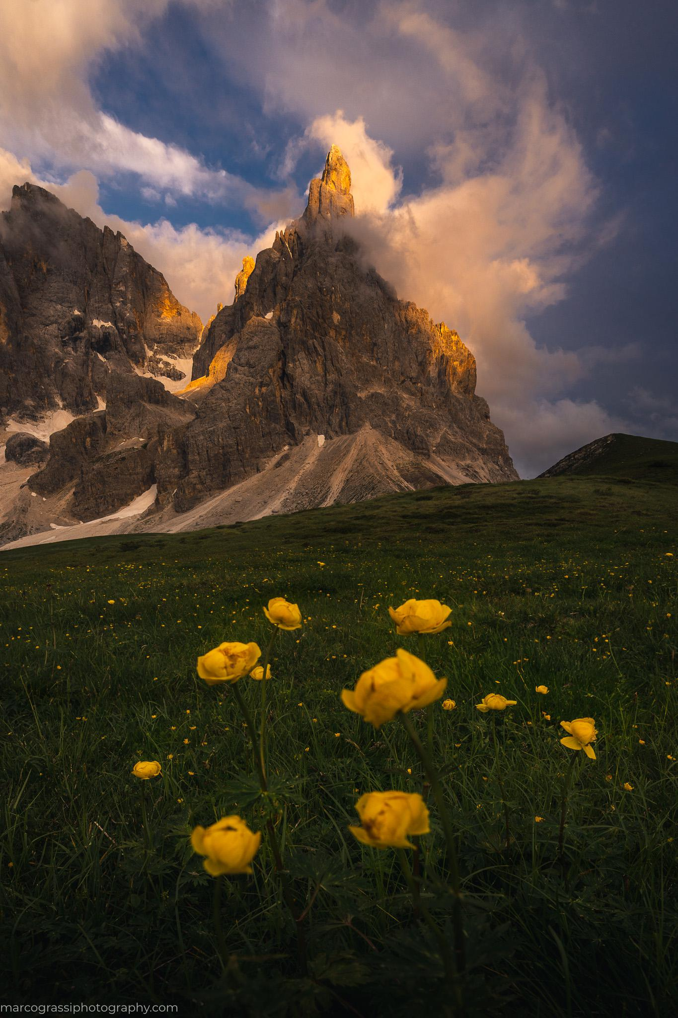 Summer evenings in the Dolomites, Italy