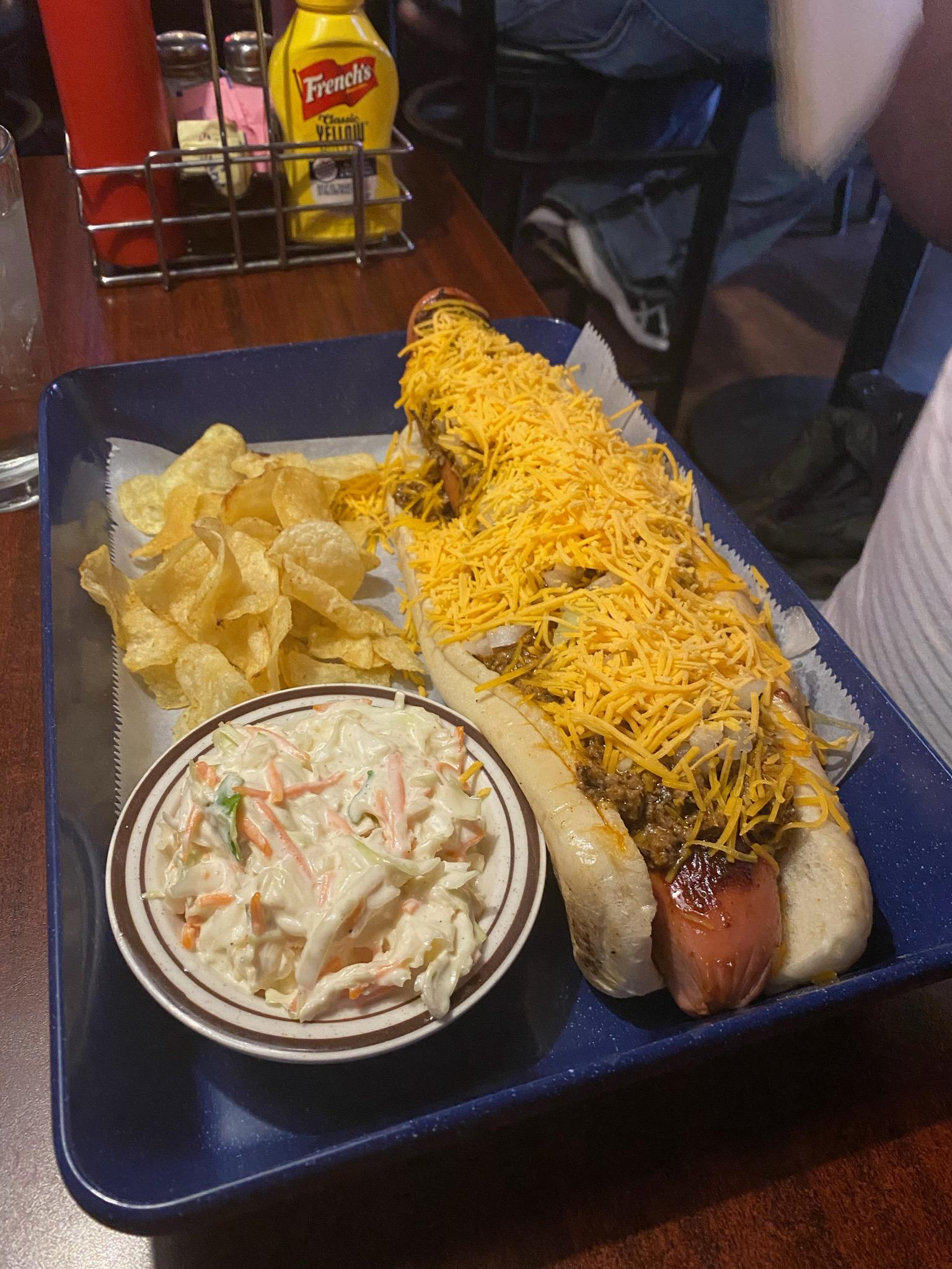 I ate a footlong, 1 lb. chili cheese dog