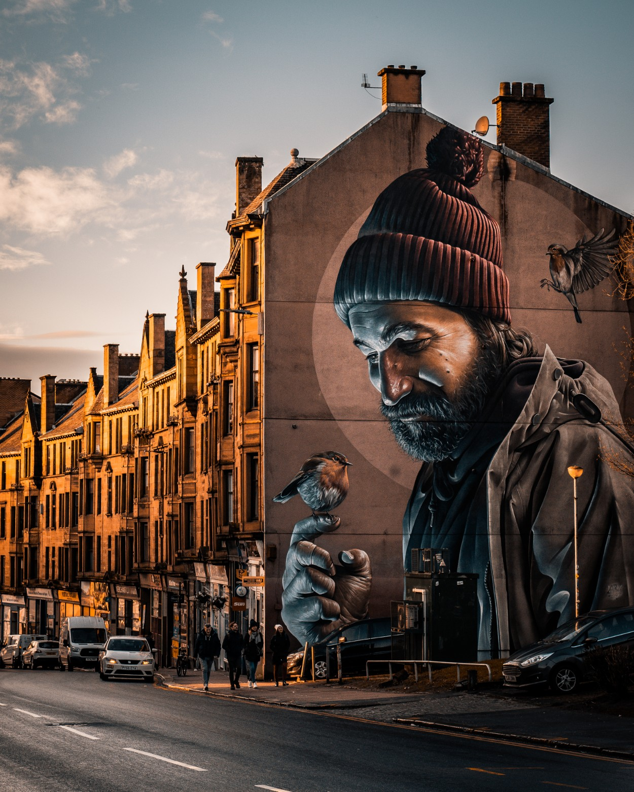 Amazing street art by Smug in Glasgow