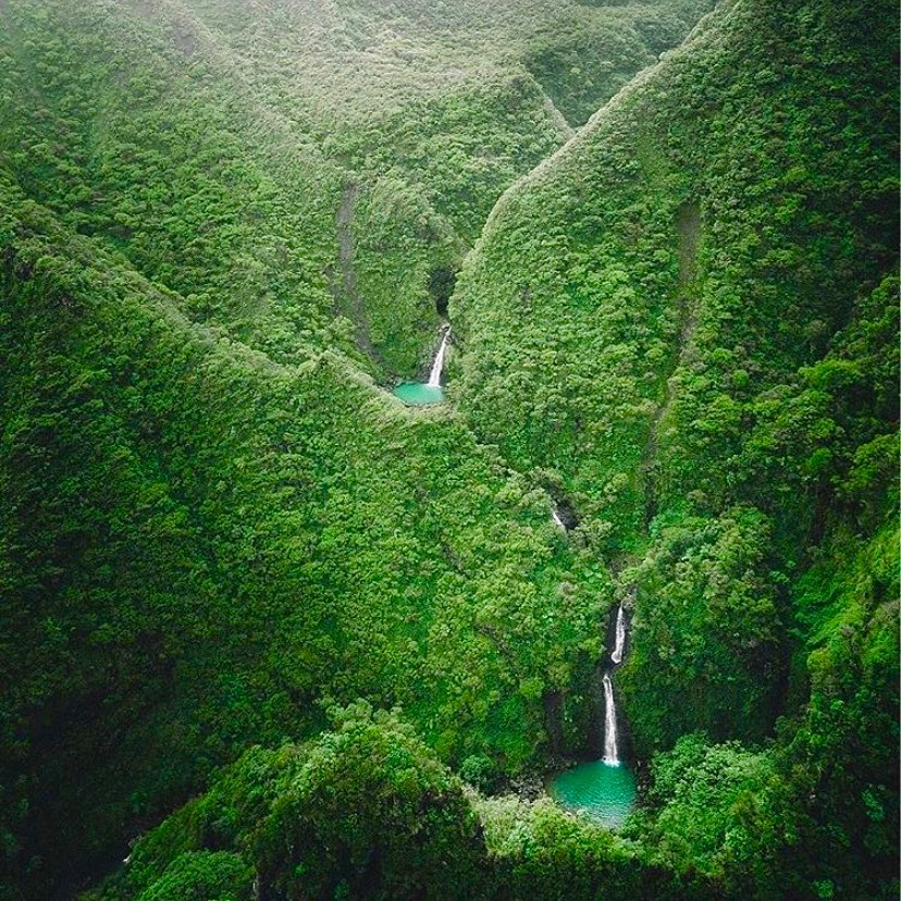 Sacred Falls in Hau'ula, Hawaii