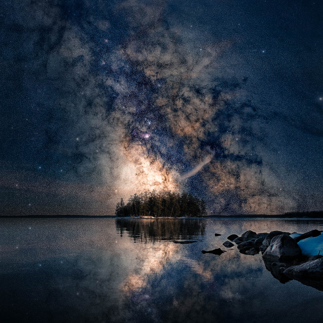 Some Milkyway Magic for these dark and trying times. Sebago Lake, Maine