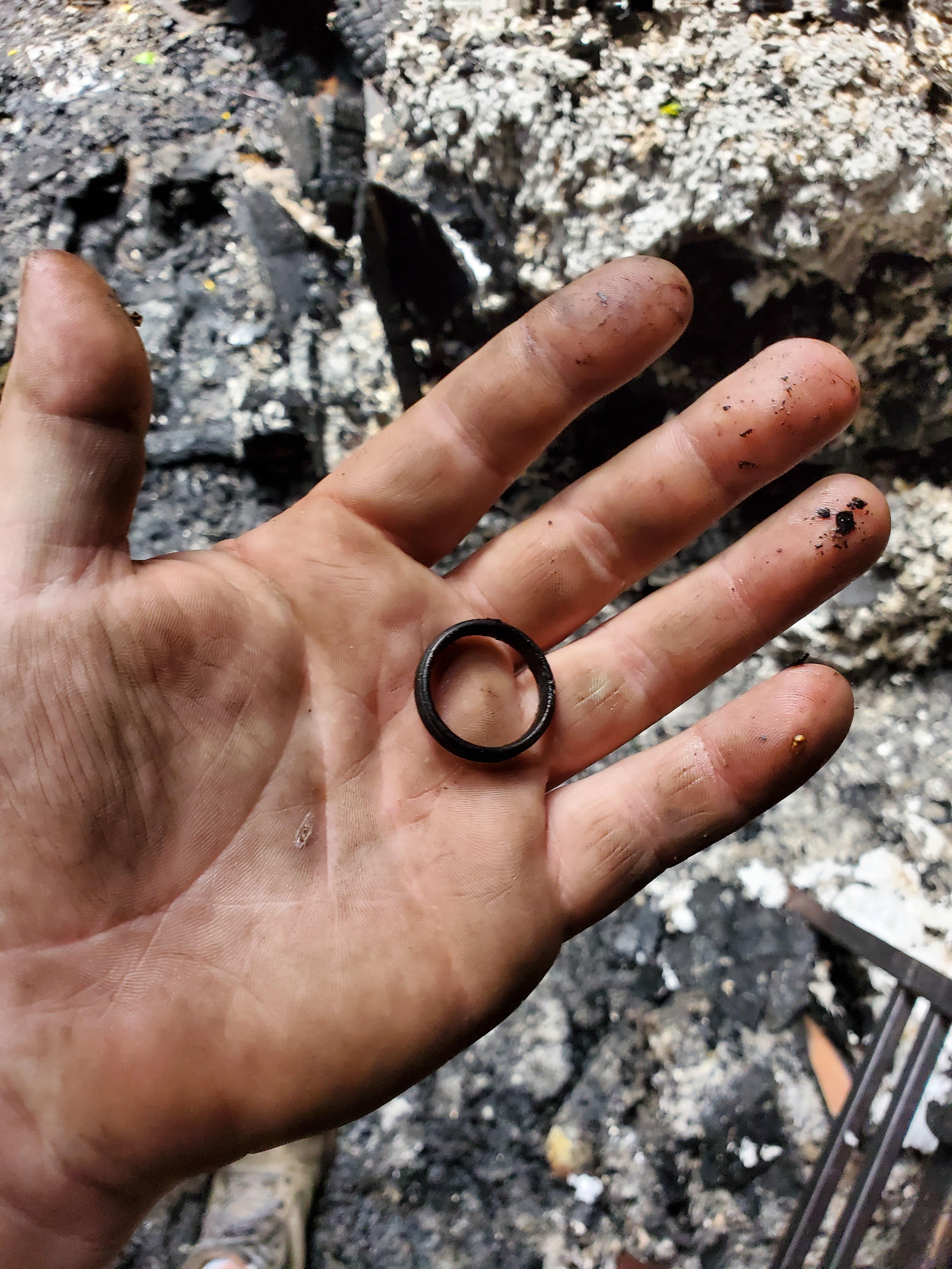 I found my wedding ring after my house burned up