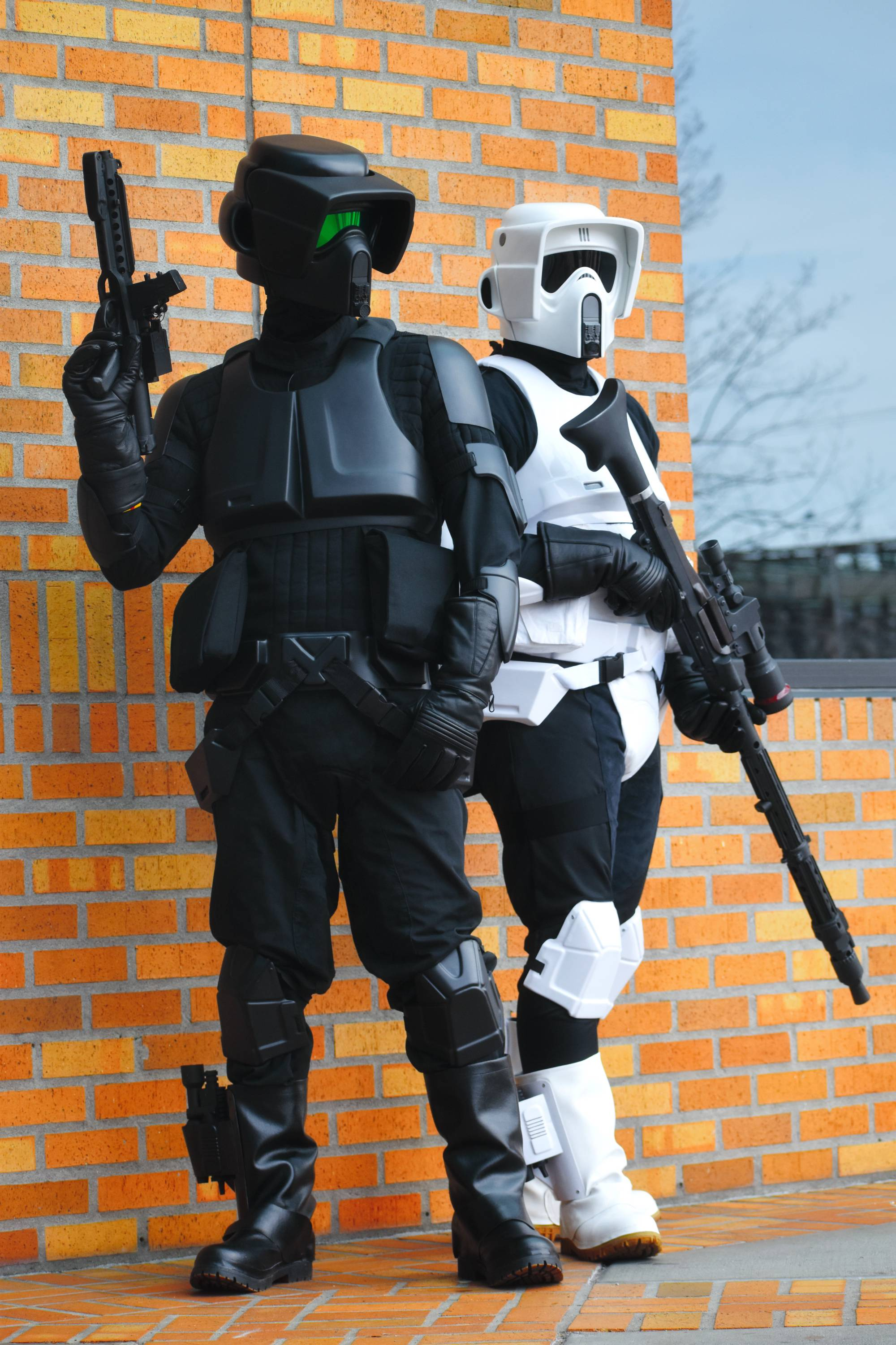 Absolutely love this photo of me (left) and my Legion friend (right) from earlier this year trooping