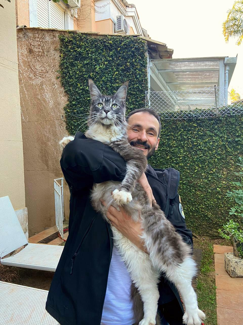 My dad and his Maine Coon, Buba