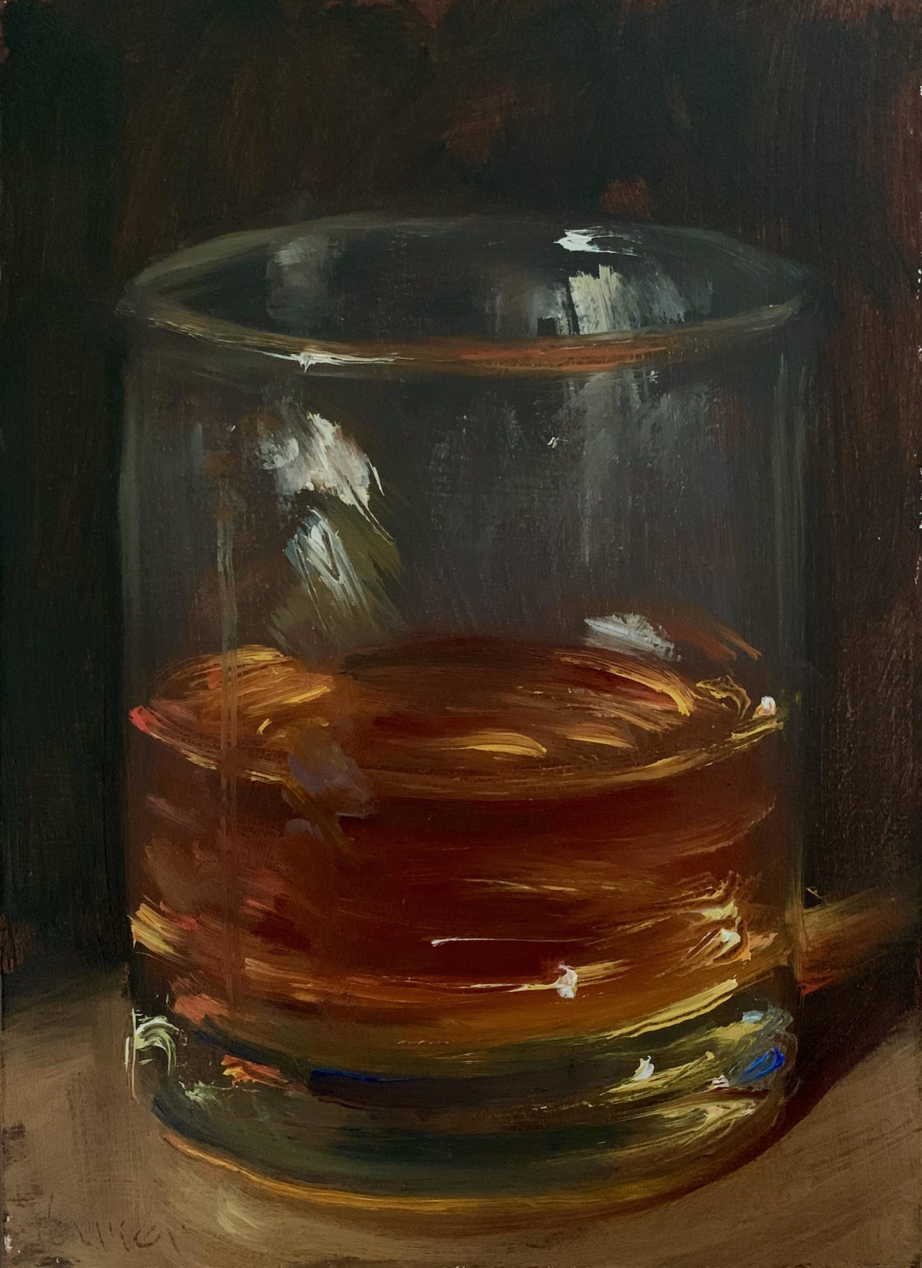 My oil painting of a Glass of Whisky