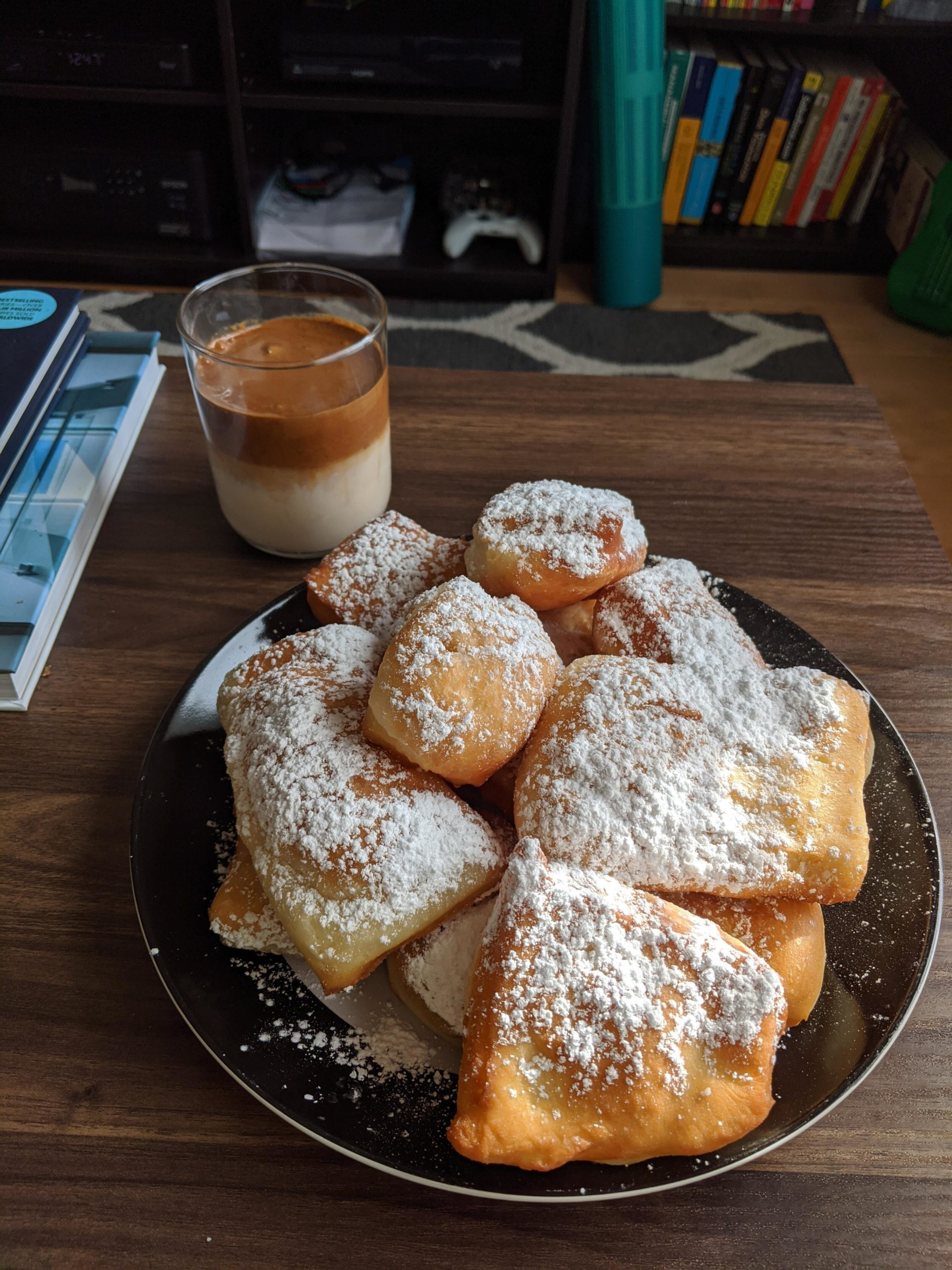 Beignets and Dalgona with Bailey's