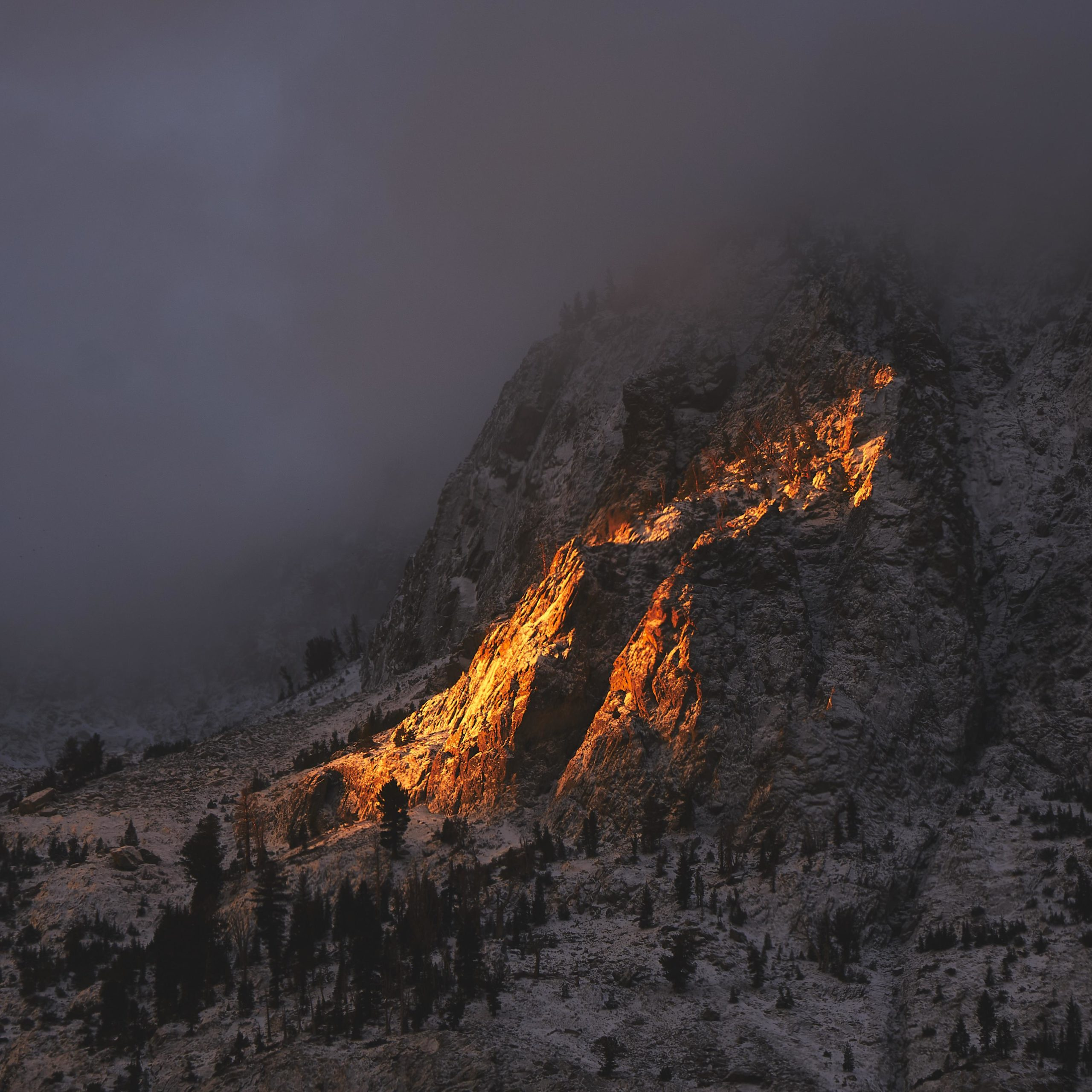 First light, first snow June Lake, California