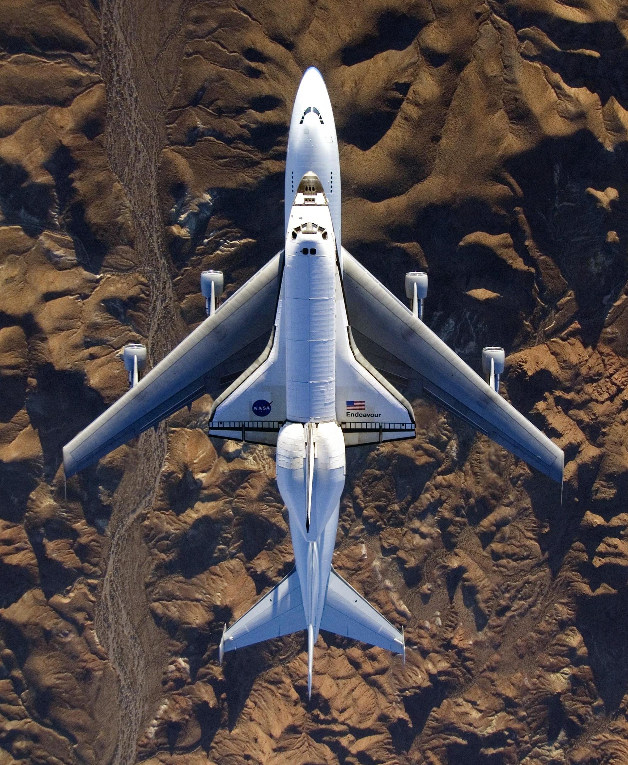 NASA's modified Boeing 747 Shuttle Carrier Aircraft