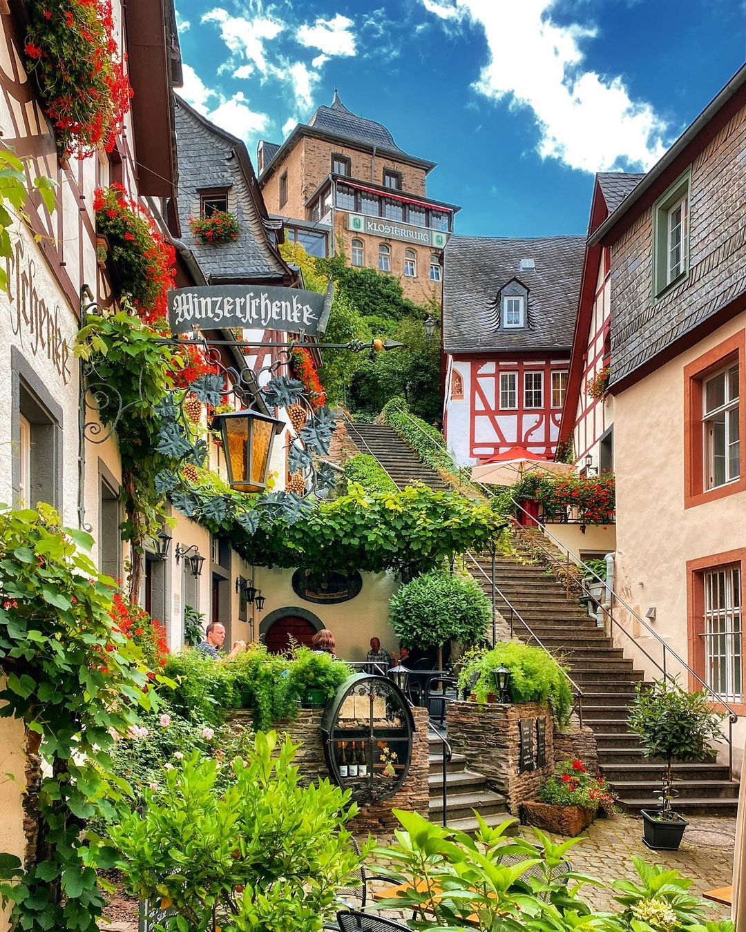The small village of Beilstein, Rhineland-Palatinate, Germany