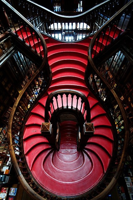 Staircase in a Portuguese bookshop